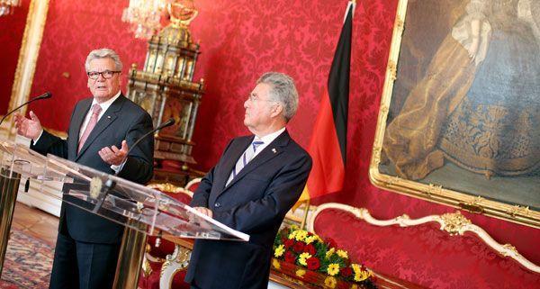 Joachim Gauck und Heinz Fischer am Donnerstag in Wien.
