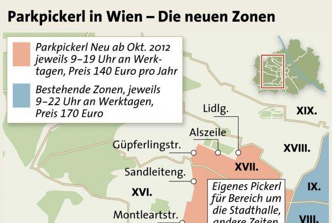 Parkpickerl: Änderungen bei Zonengrenzen fixiert