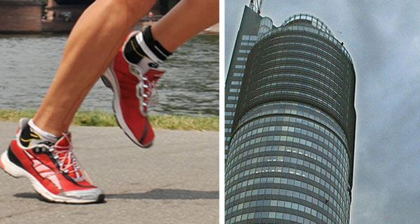 Beim Treppenlauf wird der Millennium Tower in Bestzeit erklommen.