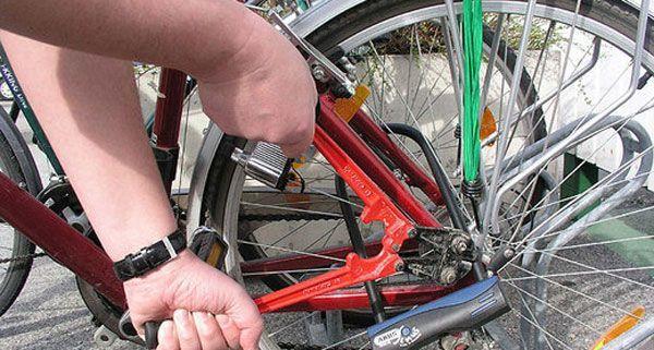 Versuchter Fahrrad-Diebstahl in Wien-Wieden.