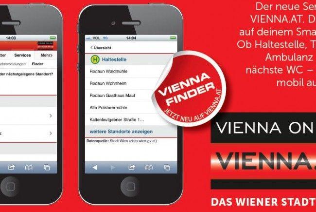 Der Vienna Finder steht für mehr Service in Wien.