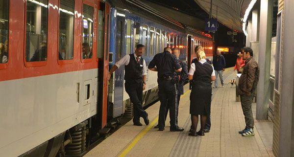 Am Bahnsteig warteten die Polizisten bereits auf den Mann, der einer Zugbegleiterin Geld gestohlen hatte.