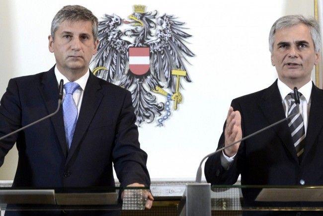 Ministerratspressekonferenz in Wien.