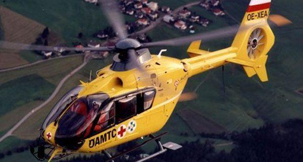 Mit dem Rettungshubschrauber wurde der verletzte Bauer aus Bromberg ins Spital gebracht.