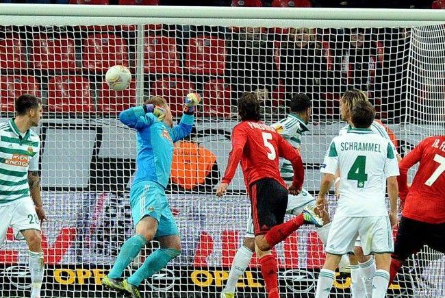 Rapid Wien konnte auch beim Rückspiel kein Tor erzielen und verlor erneut gegen Bayer Leverkusen.