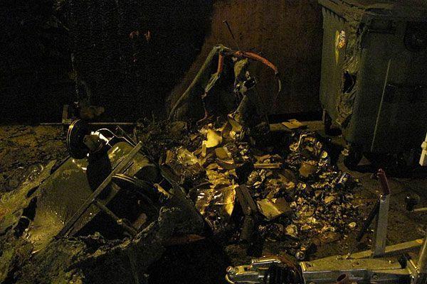 Diese verherrenden Spuren blieben vom Feuer in der Innenstadt