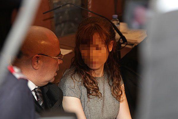 Estibaliz C. beim Auftakt zum Prozess in Wien