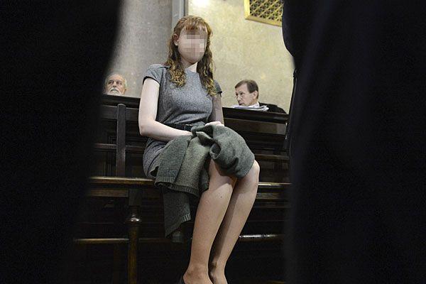 Estibaliz C. am vierten Prozesstag in Wien