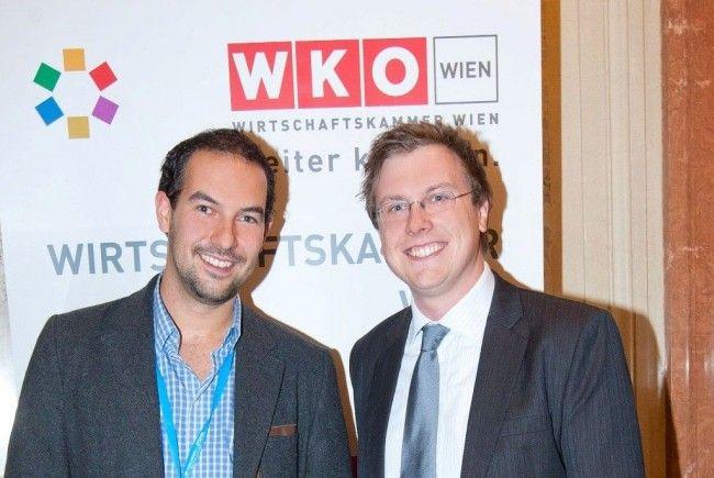 Andreas Tschas, CEO von STARTeurope und Martin Puaschitz, Vorsitzender der Jungen Wirtschaft Wien luden zum Investoren Empfang.