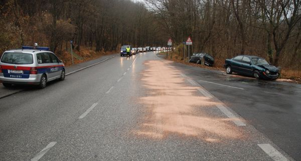 Auf der Höhenstraße in Hernals geschah der absichtlich verursachte Unfall