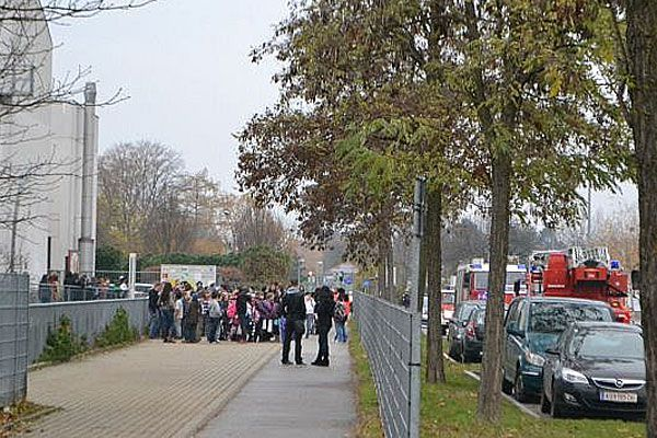 In dieser Schule in Floridsdorf brannte es