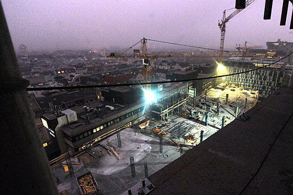 So sah das Bauprojekt in Wien-Mitte vor gut einem Jahr aus - nun wird der Komplex eröffnet