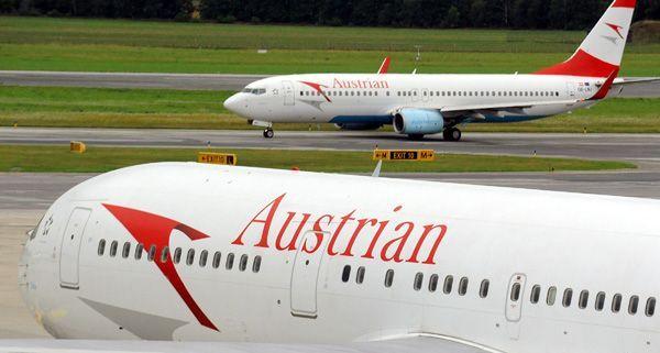 Nach der Landung verlor die AUA-Maschine in Wien ein Rad.