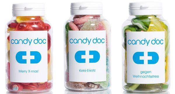 Beim Candydoc gibt es auch in der Weihnachstzeit für jeden das passende Label.