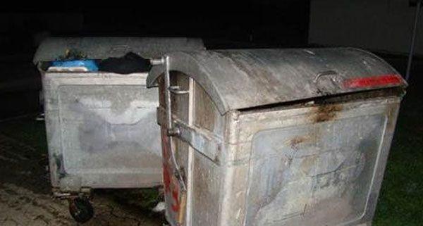 Am Donnerstagabend wurden in Wien-Floridsdorf Müllcontainer in Brand gesteckt.