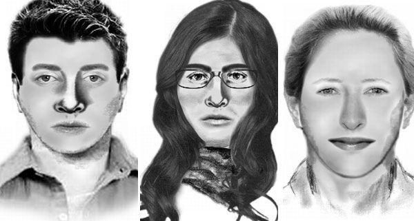 Die Polizei fahndet nach diesen drei unbekannten Trickdieben.