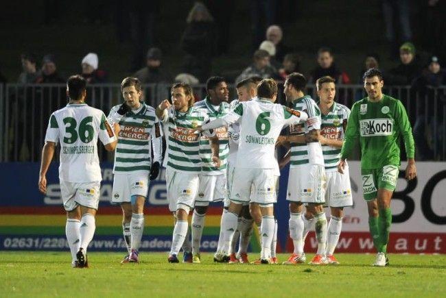 Rapid feierte endlich einen gelungenen Sieg, am Samstag gegen Mattersburg.