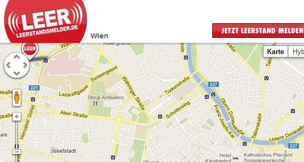 Online werden leerstehende Immobilien in Wien angezeigt.
