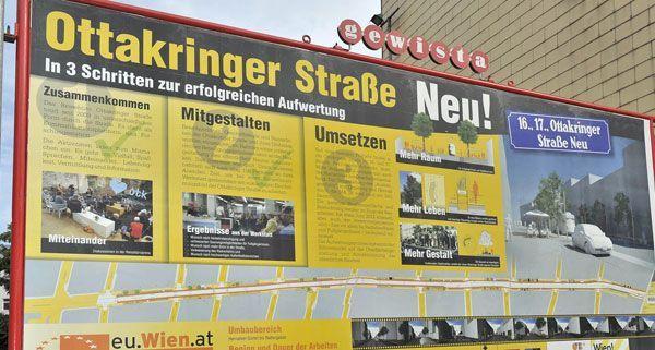 Am 8. November kann man sich über die Umgestaltung der Ottakringer Straße informieren.