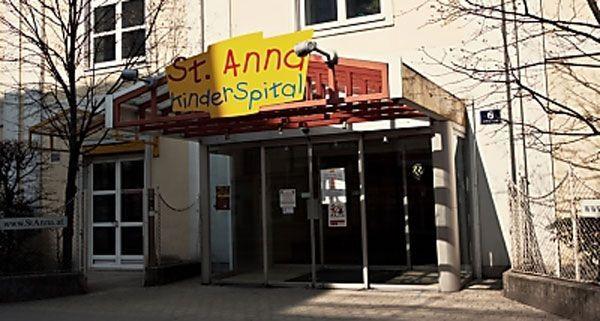 Ein Baustellenaufzug stürzte auf das Portal des St. Anna Kinderspitals in Wien.