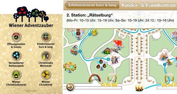 Eine neue App lässt sie durch den Wiener Adventzauber navigieren.
