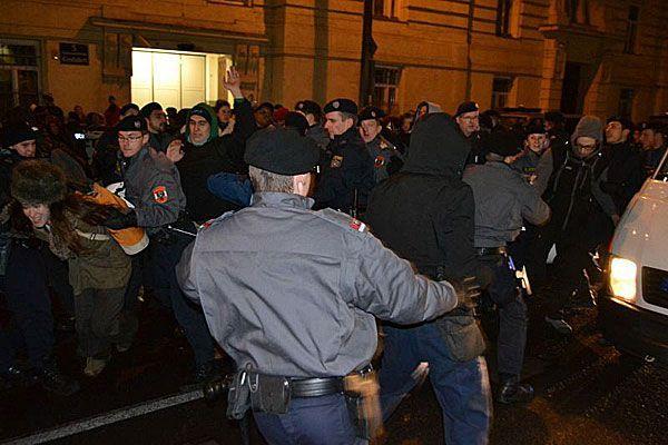 Bei der Demo auf der Rossauer Lände soll es Auseinandersetzungen gegeben haben