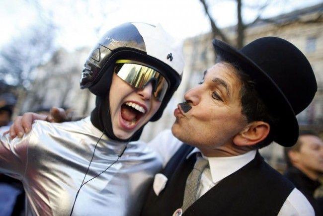 Auch heuer fanden sich wieder viele lustige Gestalten zum Wiener Silvesterlauf ein.