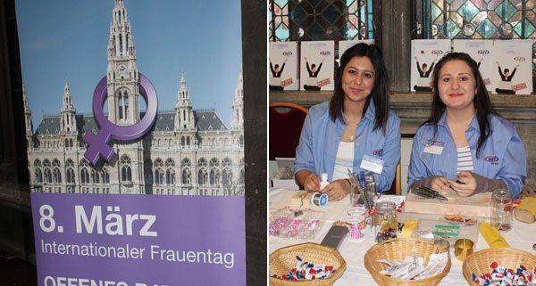 Zahlreiche Organisationen stellten sich beim Frauentag im Rathaus vor.