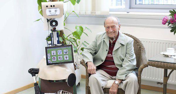 "Der Roboter ""Hobbit"" soll ältere Menschen unterstützen."