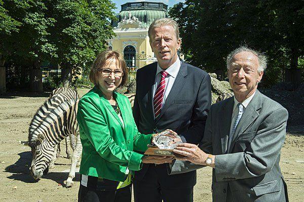 Tiergartendirektorin Dagmar Schratter, Bundesminister Reinhold Mitterlehner, Zooexperte Anthony Sheridan