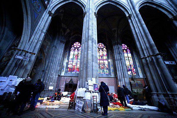 Nicht zum ersten Mal ist die Votivkirche von Asylwerbern besetzt