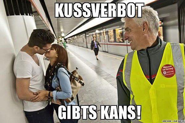 Küssen verboten? Nicht bei den Wiener Linien!