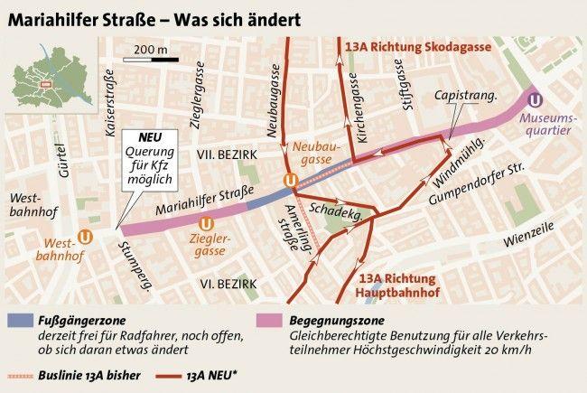Parken rund um die Mariahilfer Straße in Wien: Parkplätze und Parkhäuser