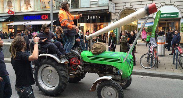 Protest pro Cannabis-Legalisierung in Wien.