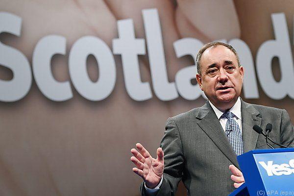 Premier Alex Salmond wirbt für eine Abspaltung