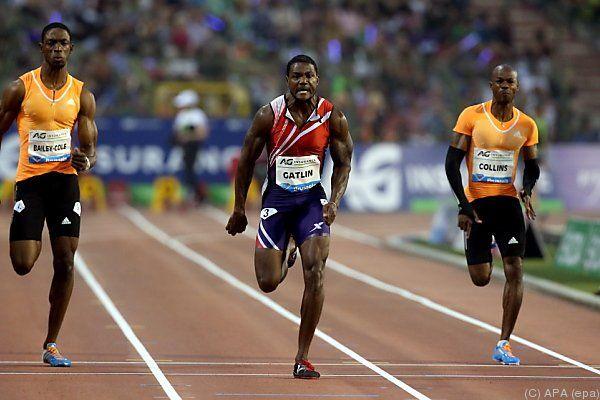 Gatlin läuft Doping-Vergangenheit davon