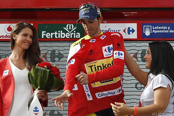 Contador behält Trikot des Gesamtführenden