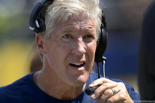 Seahawks-Trainer Pete Carroll kann sich freuen