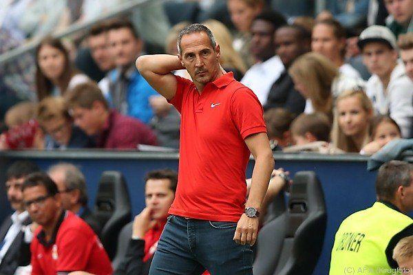 Salzburg-Trainer Adi Hütter unter Siegzwang