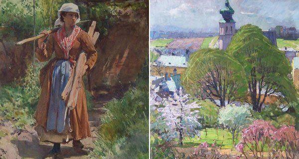 Zwei der Gemälde, die gestohlen worden sind.