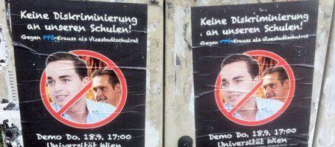 Schüler demonstrieren in Wien