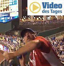 Beim Baseball fliegen die Erdnüsse hoch