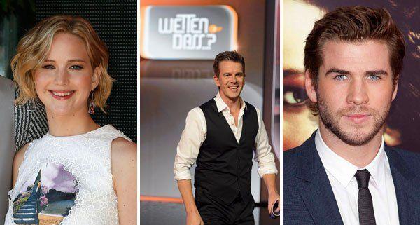 Jennifer Lawrence und Liam Hemsworth nehmen am Sofa bei Markus Lanz Platz.