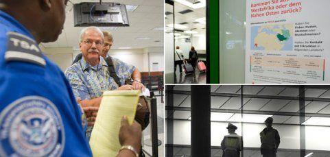 Ebola - Kontrollen an Flughäfen