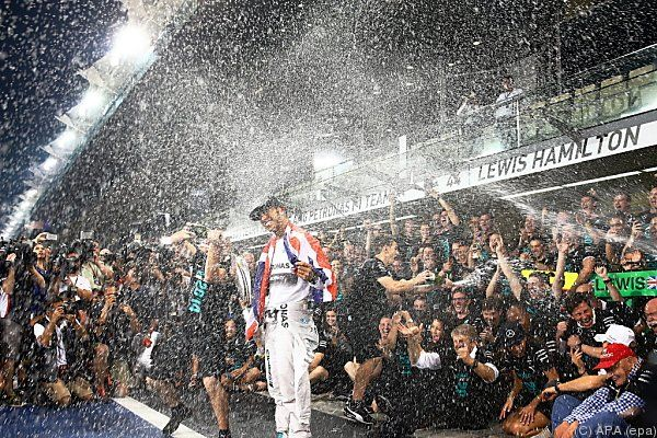 Geht es nach Hamilton, spritzt noch oft Champagner