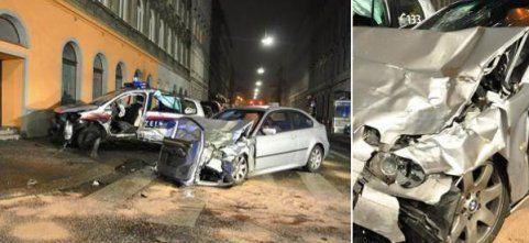 Alko-Lenker rammte Polizeiauto