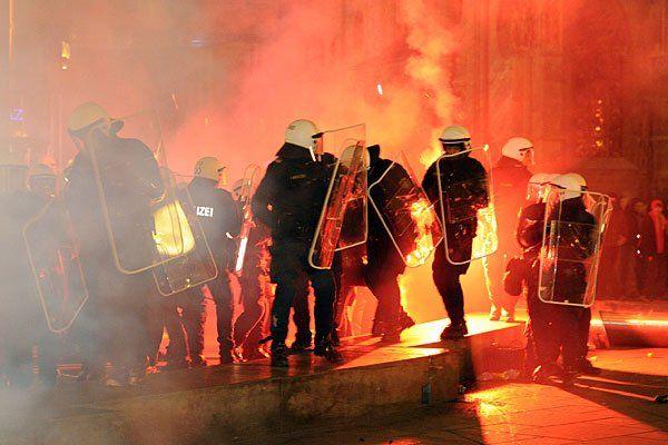 In den Vorjahren gab es Ausschreitungen bei der Demonstration gegen den Akademikerball der FPÖ