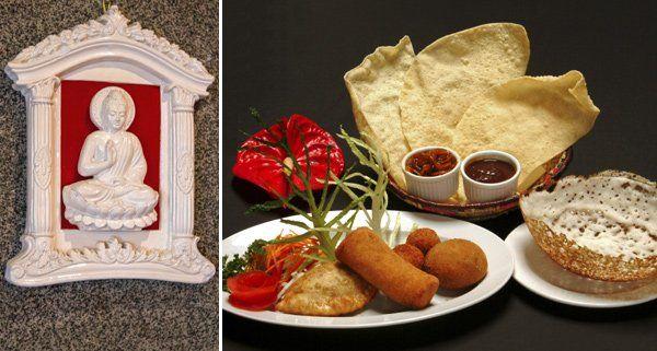 Vielfältiges kulinarisches Angebot Marke Sri Lanka.
