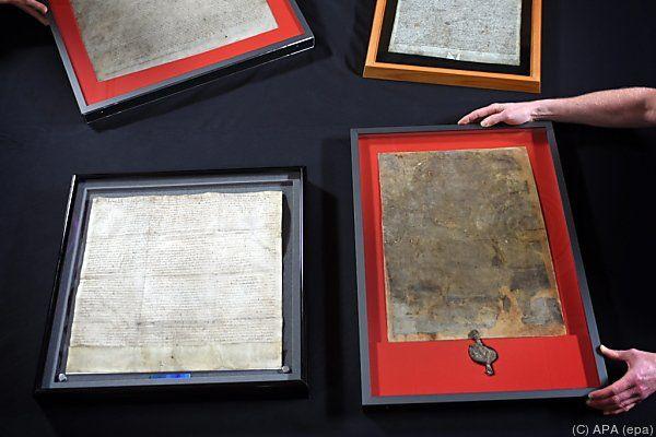 Vier Teile der Magna Carta