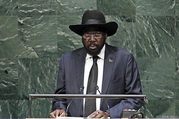 Präsident Salva Kiir bei seiner Rede vor der UNO